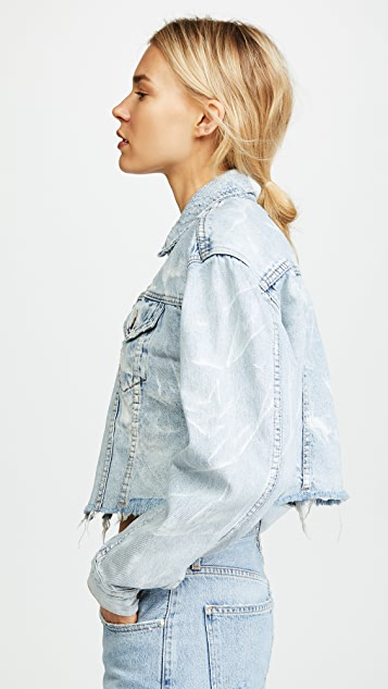 Ksubi Daggerz Cropped Denim Jacket