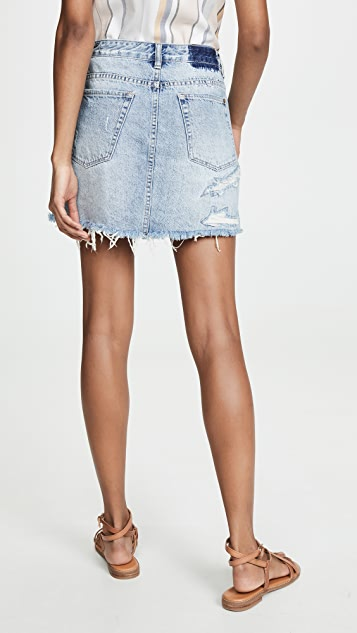 Ksubi Mini Moss Recall Blue Skirt