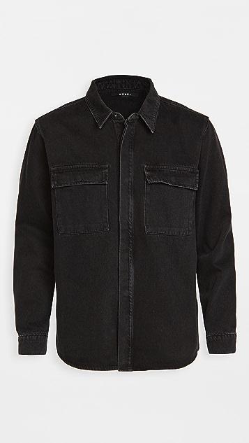 Ksubi Snakebike Shirt Dusted Black