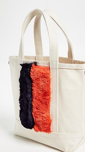 KULE The Faux Fur Bucket Bag