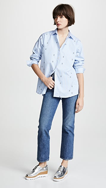 KULE The Hutton Embroidered Button Down