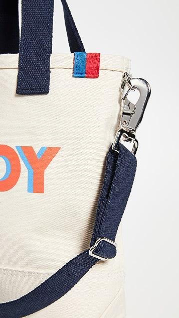 KULE Объемная сумка с короткими ручками и принтом «O Boy»