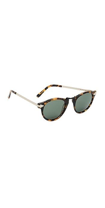 Karen Walker Helter Skelter Sunglasses - Vintage Demi