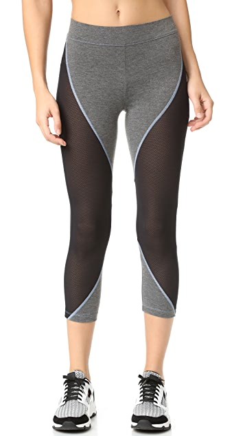 LAAIN Diamond Cropped Leggings