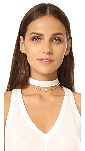 Lacey Ryan White Out Choker Necklace