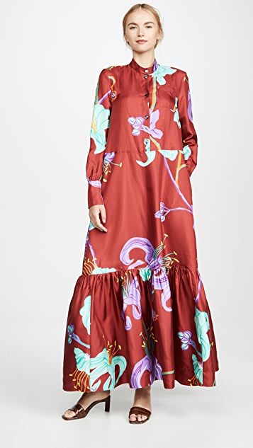 La Double J Maxi Shirtdress