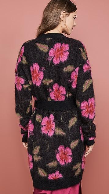 La Double J Mohair Cardigan Coat