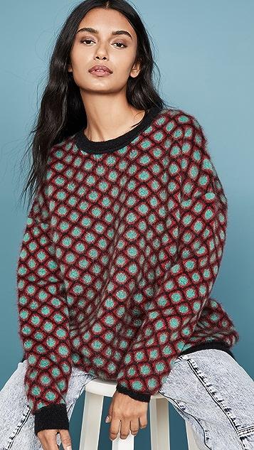 La Double J Объемный свитер с округлым вырезом из мохера
