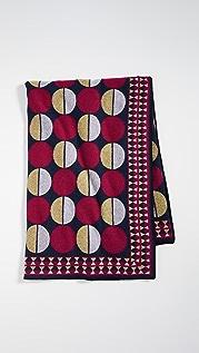 La Double J 印花羊毛毯子