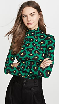 Floral Leopard Turtleneck