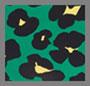 花卉豹纹翠绿色