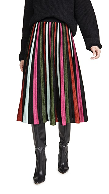 La Double J Accordion Knit Skirt