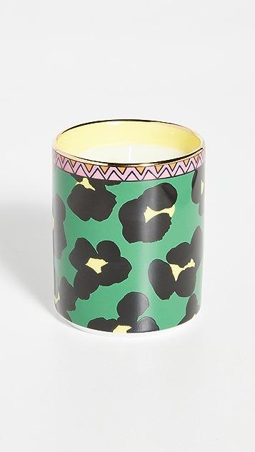 La Double J Flower Leopard Candle