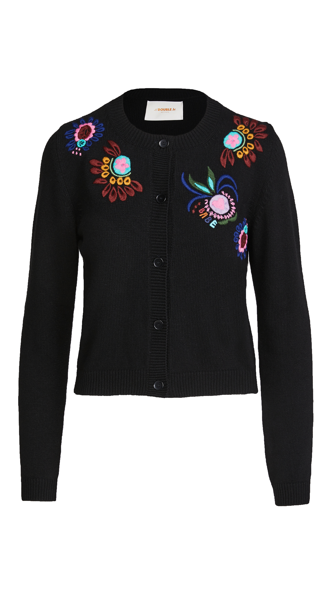 La Double J Embroidered Cardigan