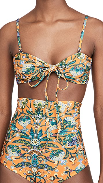 La Double J Reversible 3-Way Bandeau Bikini Top