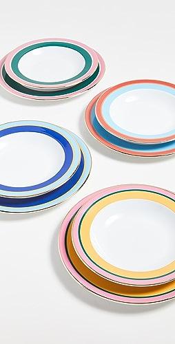 La Double J - Soup and Dinner Plates Set of 8
