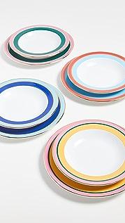 La Double J Soup and Dinner Plates Set of 8