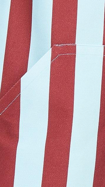 La Double J Striped Apron