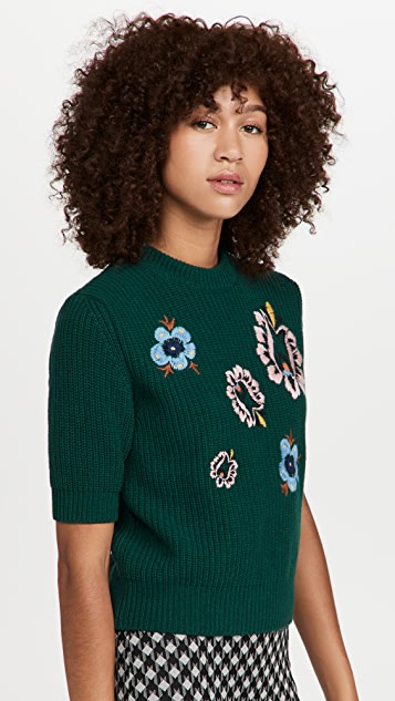 La Double J Cropped Knit Top