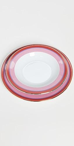 La Double J - Soup and Dinner Plates Set of 2