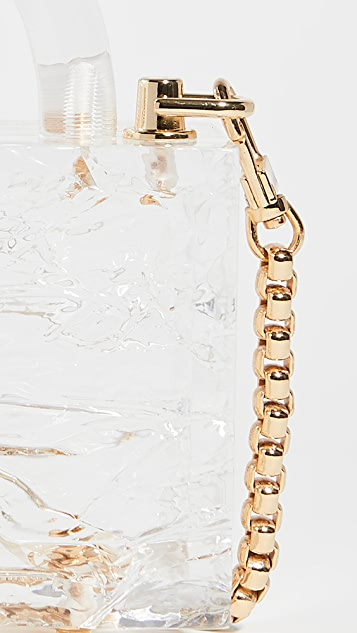 L'Afshar Mini Leon Bag with Gold Link Chain
