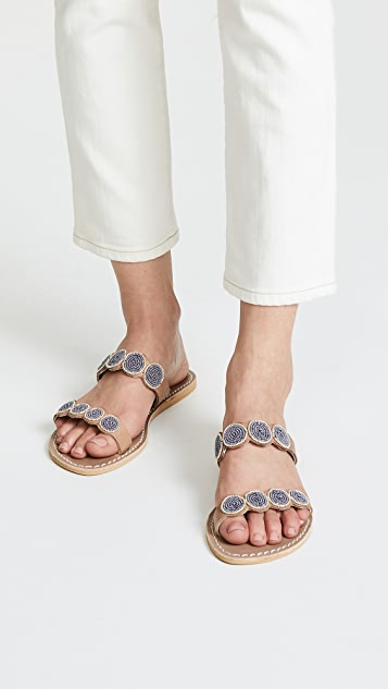 Laidback London Kaitlyn Double Strap Sandals