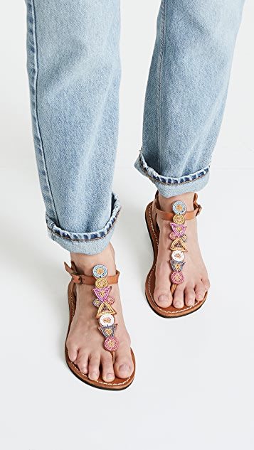 Laidback London Hague T-Strap Sandals