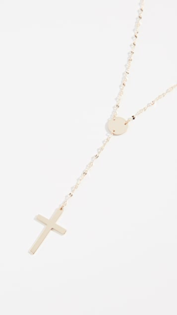 LANA JEWELRY 14k Crossary 项链
