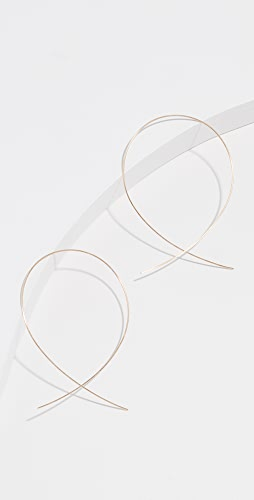 LANA JEWELRY - 14K 大号倒置圈式耳环