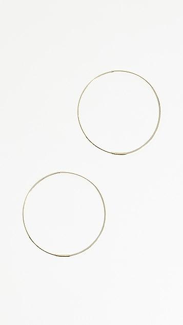 LANA JEWELRY 14k Large Flat Magic Hoops