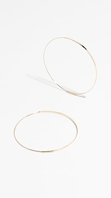 edcb2bf4548db 14k Large Flat Magic Hoops