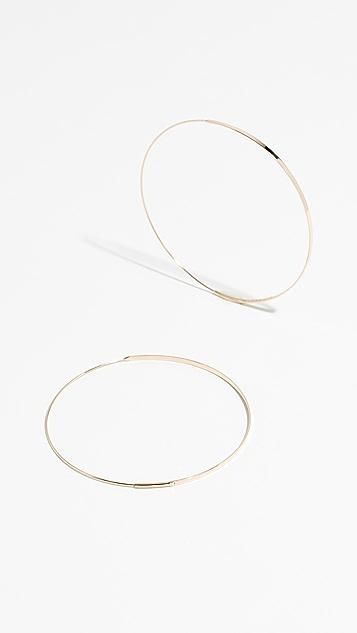 LANA JEWELRY Крупные плоские серьги-кольца Magic из 14-каратного золота