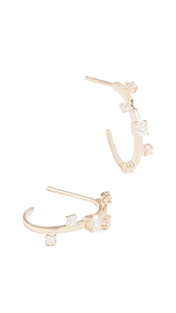 LANA JEWELRY 14k Solo Diamond Hoops