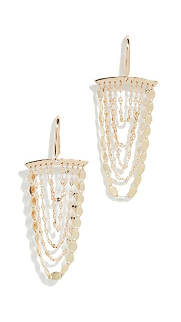 LANA JEWELRY 14k Small Cascade Earrings