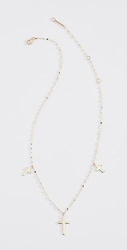 LANA JEWELRY - 14k Triple Cross Necklace