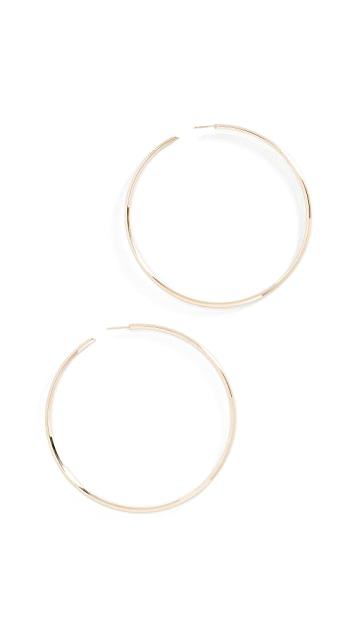LANA JEWELRY Крупные серьги-кольца Hollow из 14-каратного золота