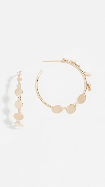 LANA JEWELRY 30mm Disc Hoops 14k