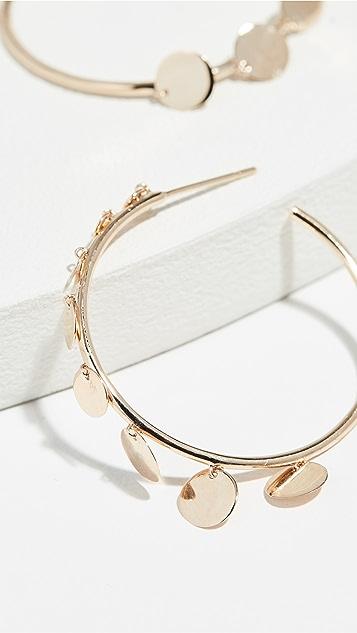 LANA JEWELRY Серьги-кольца из 14-каратного золота с дисками размером 30мм