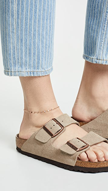 LANA JEWELRY 14k Mega Blake Chain Anklet