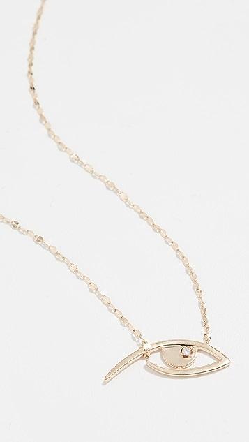LANA JEWELRY 14k Diamond Evil Eye Pendant Necklace