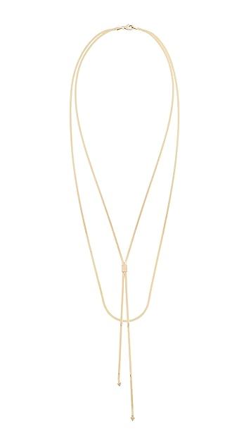 LANA JEWELRY Колье Liquid Gold Blake из 14-каратного золота