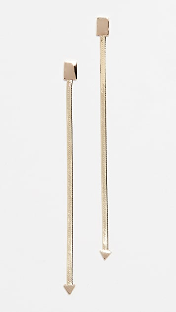 LANA JEWELRY Серьги из 14-каратного золота Liquid Gold Linear