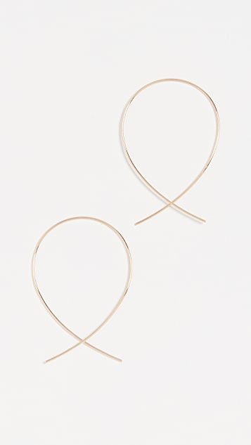 LANA JEWELRY 14k Small Upside Down Hoops