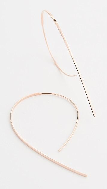LANA JEWELRY 14k Small Flat Hooked Hoop Earrings