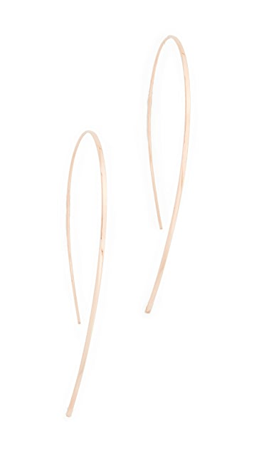 LANA JEWELRY 14k Small Flat Hooked Hoop Earrings