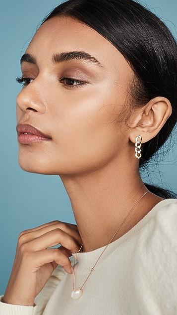 LANA JEWELRY Linear Casino Chain Earrings 14k
