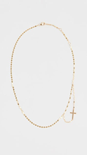 LANA JEWELRY 14k Double Strand Cross Necklace