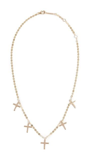 LANA JEWELRY 14k Cross Charm Necklace