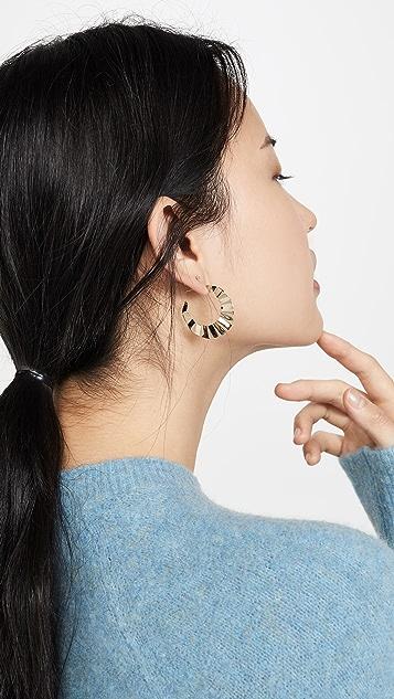 LANA JEWELRY 14k 裂纹圈式耳环