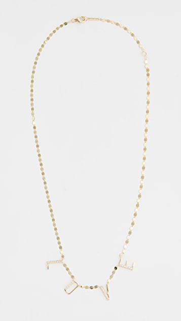 LANA JEWELRY 14k Hanging Love Necklace